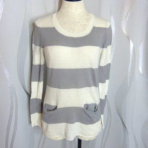 Chico's Striped Lightweight Sweater Top | Sz 0 (S)